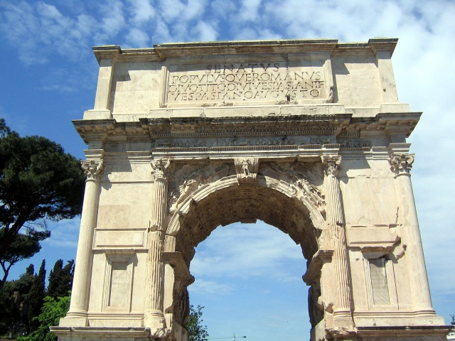 The Triumphal Arch of Titus Vespasian, Destroyer of the Temple